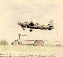 """Douglas A-20A """"the Boston"""" sketch by ChrisNeal"""