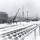 Bristol harbor in snow by Arvind Singh