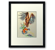 Snow-White and Rose-Red - the dwarf caught by the eagle Framed Print