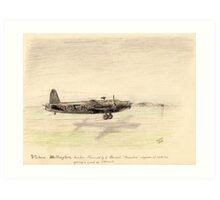 Vickers Wellington pencil sketch Art Print