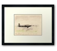 Vickers Wellington pencil sketch Framed Print