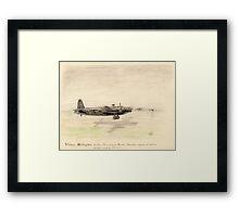 Vickers Wellington pencil sketch Framed Print