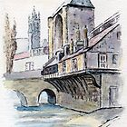 Moret-sur-Loing watercolour sketch by ChrisNeal