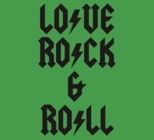 LOVE ROCK AND ROLL Kids Clothes
