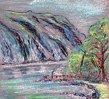 Lake district landscape pastel sketch by Chris Neal