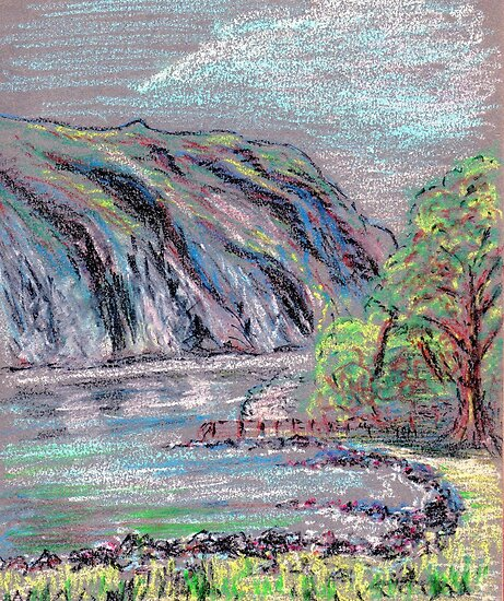 Lake district landscape pastel sketch by ChrisNeal