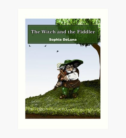The Witch and the Fiddler - eBook cover Art Print