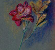 Flower-pastel sketch by Chris Neal
