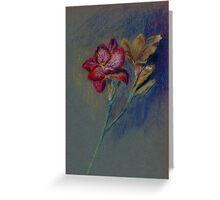 Flower-pastel sketch Greeting Card