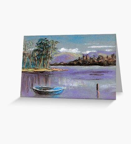 River landscape-pastel sketch Greeting Card