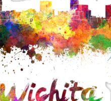 Wichita skyline in watercolor Sticker