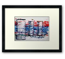 In the Midst of Life. Layer after Layer. The Family: mother with two kids.  Framed Print