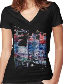 In the Midst of Life. Layer after Layer. The Family: mother with two kids.  Women's Fitted V-Neck T-Shirt