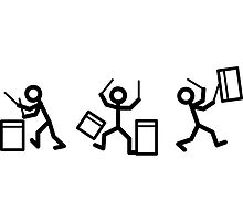 Drummer Stickmen by chrisbears