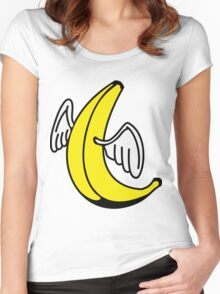 Flying Banana with Angel-Wings Women's Fitted Scoop T-Shirt
