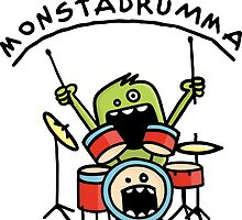 Monster Drummer by chrisbears