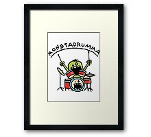 Monster Drummer Framed Print