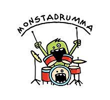 Monster Drummer Photographic Print
