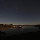 Lake Tantangara under moonlight by Tim Coleman