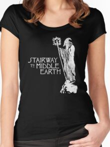 stairway to middle-earth Women's Fitted Scoop T-Shirt
