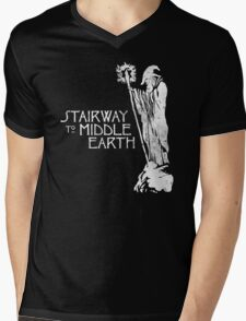stairway to middle-earth Mens V-Neck T-Shirt