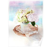 Hydrangeas and Lace Poster