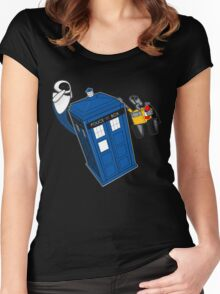 Tardis Space Dance - Wall-e & Eve Women's Fitted Scoop T-Shirt