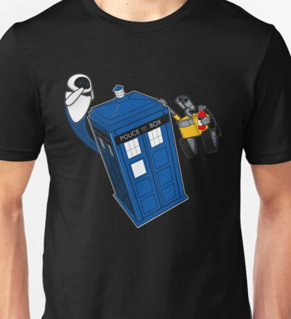 Tardis Space Dance - Wall-e & Eve Unisex T-Shirt