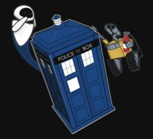 Tardis Space Dance - Wall-e & Eve Kids Clothes