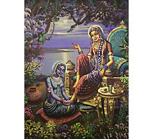 Krishna disguised as gopi Photographic Print