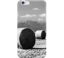 hay bale in the field iPhone Case/Skin