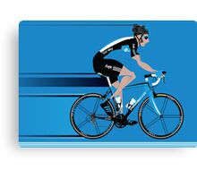 Bradley Wiggins Team Sky Canvas Print