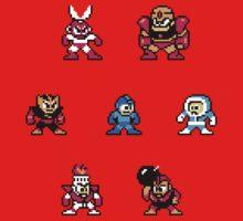 Megaman surrounded 1 One Piece - Short Sleeve
