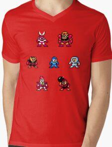 Megaman surrounded 1 Mens V-Neck T-Shirt