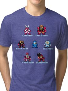 Megaman surrounded 1 with text Tri-blend T-Shirt