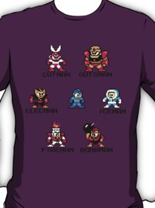 Megaman surrounded 1 with black text T-Shirt