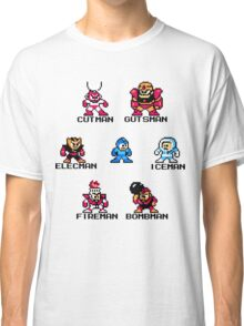 Megaman surrounded 1 with black text Classic T-Shirt