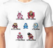Megaman surrounded 1 with black text Unisex T-Shirt