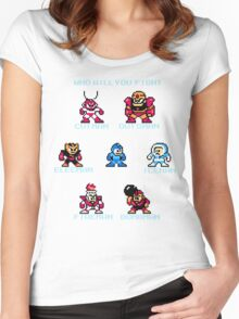 Megaman Who will you fight Women's Fitted Scoop T-Shirt
