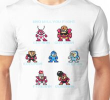 Megaman Who will you fight Unisex T-Shirt