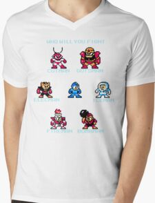 Megaman Who will you fight Mens V-Neck T-Shirt