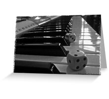 The Dice and The Song Greeting Card