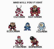 Megaman Who will you fight (black text) Kids Clothes