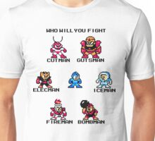 Megaman Who will you fight (black text) Unisex T-Shirt