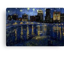Future Starry Night on the Rhone  Canvas Print