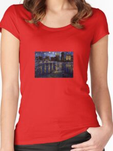 Future Starry Night on the Rhone  Women's Fitted Scoop T-Shirt