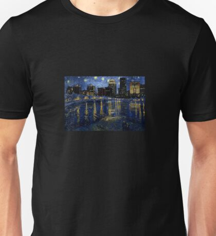 Future Starry Night on the Rhone  Unisex T-Shirt