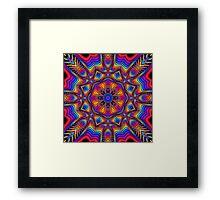 Fantasy Floral Kaleidoscope fractal artwork Framed Print