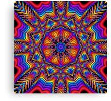 Fantasy Floral Kaleidoscope fractal artwork Canvas Print