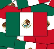 Iphone Case - Flag of Mexico - Multiple by Mark Podger